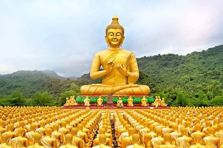 Makha Bucha Buddhist Memorial Park in Nakhon Nayok Thailand