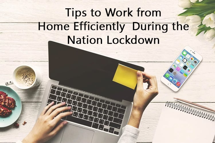 Tips to Work from Home Efficiently  During the Nation Lockdown