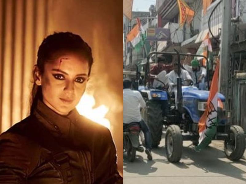 Congress continues to protest against Kangana