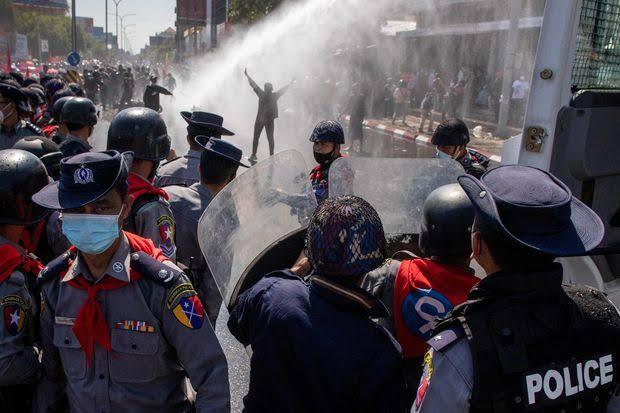 Myanmar deteriorates, police firing kills 18